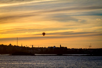 Sunset Balloon Flight Over Helsinki